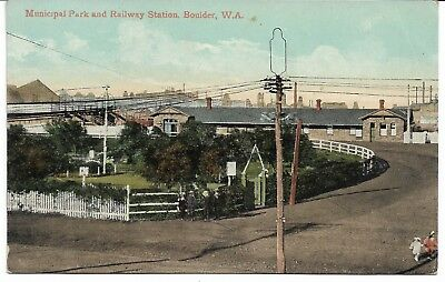 Municipal Park And Railway Station Boulder Western Australia Postcard