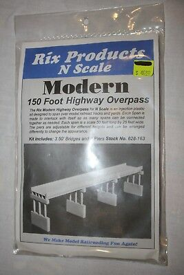 N Scale Rix Products Modern 150 ft Highway Overpass, Kit,  New Sealed