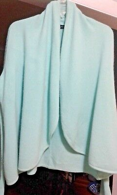 Saks Fifth Ave 100% Cashmere Open Style Sweater,light Blue.size Medium Excellent