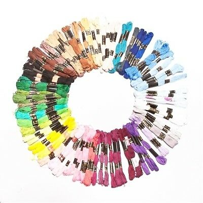 100 Pieces Of Mixed Colours Thread Skeins Floss 100% Cotton - For Embroidery, Se