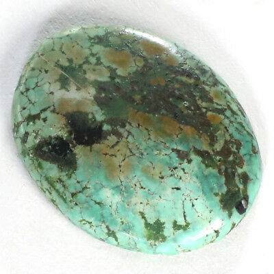 21.80Cts.100% NATURAL UNTREATED TIBET TURQUOISE Oval CABOCHON QUALITY  GEMSTONES
