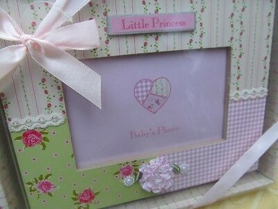 Baby Nursery Baby Shower Pink Floral Gingham Little Princess Table Photo Frame