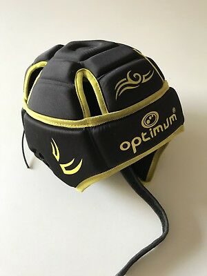 Optimum Tribal Child's Rugby Head Protection / Sport Head Guard Black/Yellow