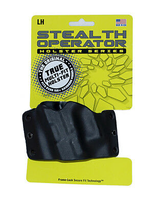 Stealth Operator Compact Holster LH OWB Glock Ruger S&W Springfield Black H60092