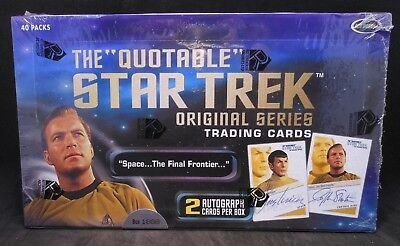 """the Quotable Star Trek 0S""  Factory Sealed Trading Card Box"