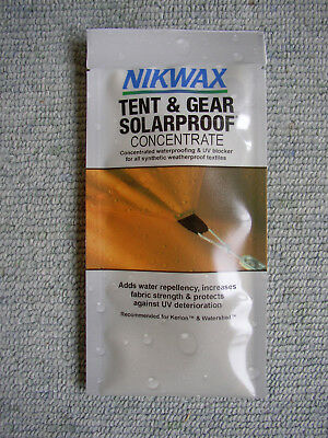 Sachet Nikwax Tent&Gear Solarproof Waterproofing+UV blocker 50 ml (makes 175 ml)