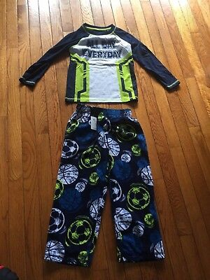 "Circo Boys Sports ""All Day Everyday"" Blue 2 Piece Pajama Set Size XS-4-5-NEW"