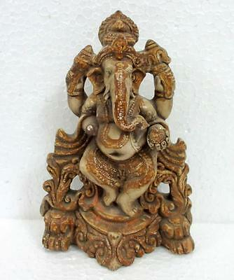 Antique Old Hand Made Terracotta Clay God Ganesha Stunning Statue Collectible
