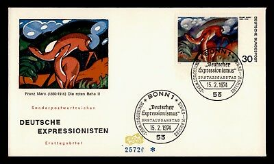Dr Who 1974 Germany Expressionist Franz Marc Fdc C23089