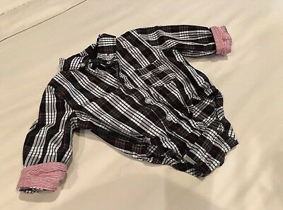 Andy & Evan Striped Shirt Baby Boys Bodysuit. Size 3-6M
