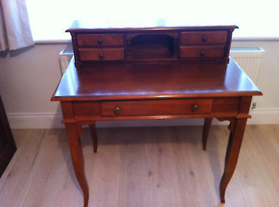 Antique Elegant Mahogany Effect Writing Table or Dressing Table With Drawers