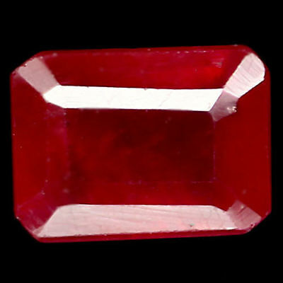 1.89 Ct Natural Pink Madagascar Ruby Glass Filled Octagon Cut
