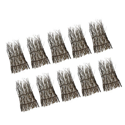10x Bamboo Peeled Reed Screening Roll Garden Screen Fence Fencing Decor 30cm