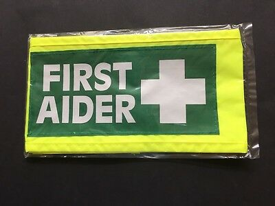 First Aider Armband - Yellow And Green -Security, Festivals, Events, School,work