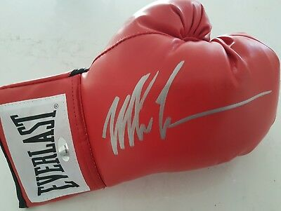 *private Signing* Iron Mike Tyson Signed Everlast Boxing Glove Tristar Coa