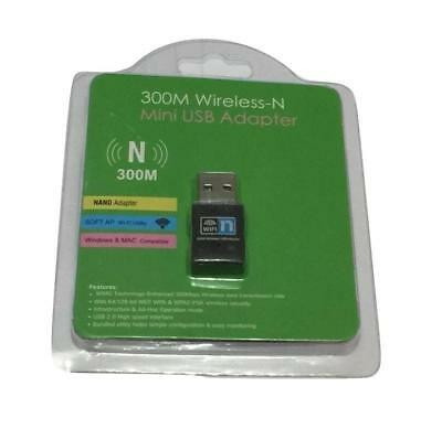 300Mbps Mini Inalámbrico USB Wi-Fi Wlan Adaptador 802.11B/G/N Dongle Gb