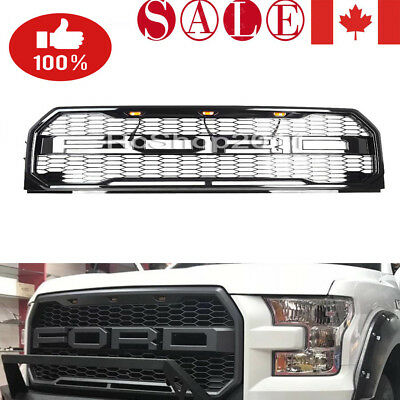 For Ford F150 Raptor Style Conversion Grille Grill w/ LED Letters 2015-2017 CAN