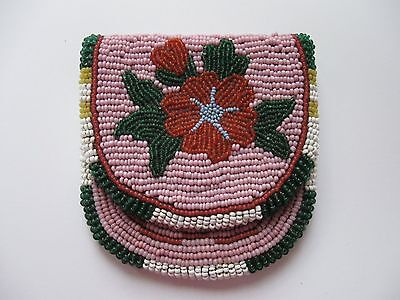 Native American Indian Beaded Coin Change Watch Purse Crow  Nez Perce Yakima