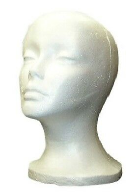 "SHANY Styrofoam Model Heads/Hat Wig Foam Mannequin - 12"" Round base"