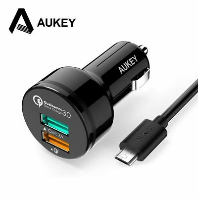 AUKEY For Qualcomm Quick Charger 3.0  USB Car Phone Charger Mobile Car-Charger f