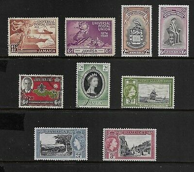 JAMAICA mixed collection, 1949-1955, used & mint