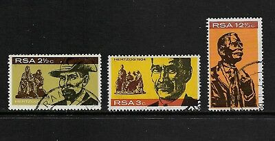 SOUTH AFRICA 1968 Inauguration of General Hertzog Monument, set of 3, used