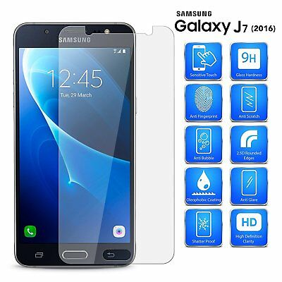 For Samsung Galaxy J7 2016  Premium Tempered Glass Screen Protector U.K.Seller