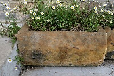Antique York stone garden planter trough