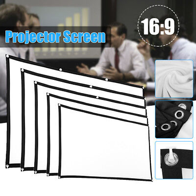 84inch HD 16:9 Home Cinema Theater Projection Screen Portable Indoor White Hot