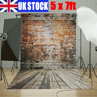 X-Large Vintage Brown Brick Wall Backdrop Photography Wedding Background Uk