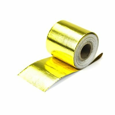 Gold High Temperature Heat Shield Wrap Tape Self Adhesive Reflective 2'' x 3Ft