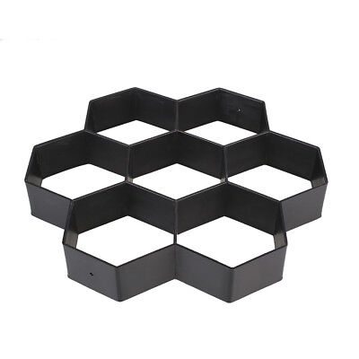 Hexagon Driveway Paving Pavement Stone Mold Concrete Stepping Pathmate Paver*