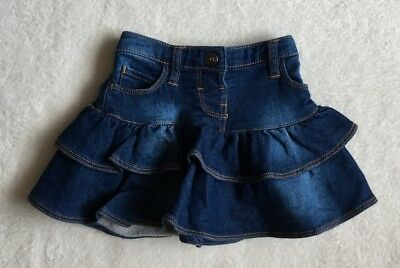 ***Nutmeg baby girl Blue Denim jersey frilly skirt 18-24 months EXCELLENT!***