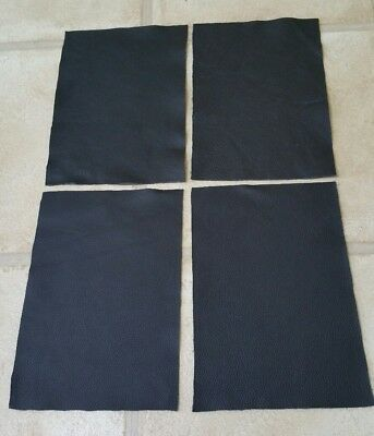 "Black leather Italian off cuts 9""×6"" offcuts You get 4 pieces 1.1mmThick"