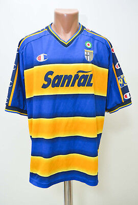 Parma Italy 2001/2002 Home Football Shirt Jersey Maglia Champion L Adult