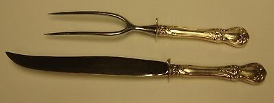 Towle Sterling OLD MASTER Large Carving Knife & Fork Set More Items Available