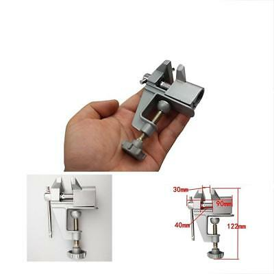 Bench Vise Mini Table Top Clamp Press Locking Swivel For Small Work
