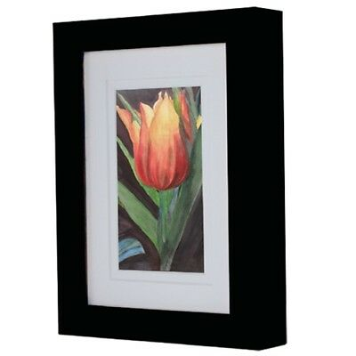 Ambiance Gallery Wood Black Picture Frames Value Boxes 4-8 Packs Art Photo