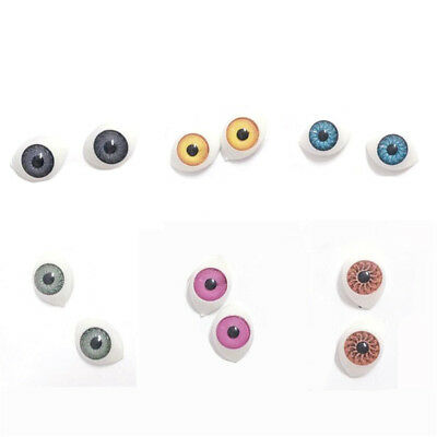 1 Pair Oval Acrylic Dolls Eyes For BJD Reborn Baby Dolls Accessories 16*11mm