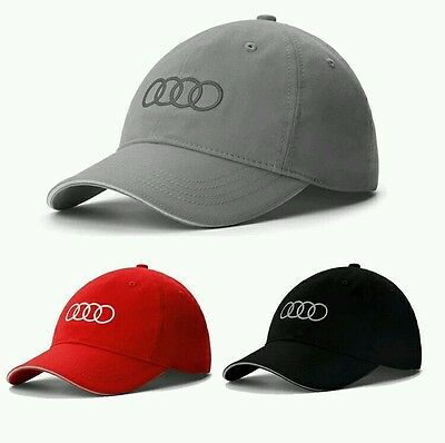 Audi Baseball Cap Motor Racing Sportscar F1 Touring Car. UK. RED BLACK CLEARANCE