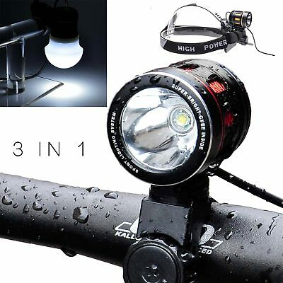 T6 LED Bicycle Bike With USB Rechargeable XML Front Light Cycling Head Lamp SG4