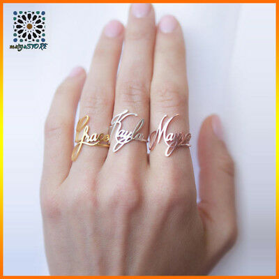 CUSTOM NAME RING Personalized your Name Ring Jewelry Dainty Ring name  Jewelry