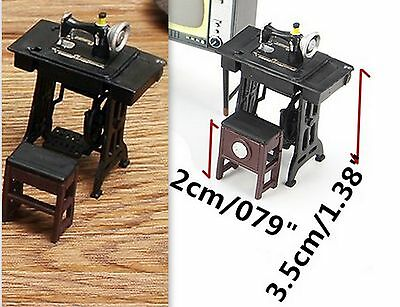 1960'S SEWING MACHINE WITH BENCH STYLE SEAT SET 1:24 (G) Scale DIORAMA!