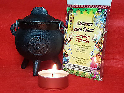 LIMADURA 7 METALES Para Ritual / 7 METALS FILING SPELL WITCHCRAFT WICCA