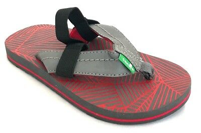 dac221dd105e SANUK DOODLE DUDE Boys Toddler Flip Flops Sandals with Back Strap 10 ...
