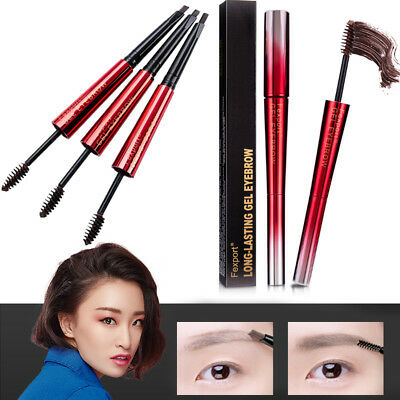 Eyebrow Pen Eyebrow Pencil Fashion Natural with Brush Double-Use Lady