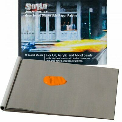 SoHo Urban Artist Grey Toned Disposable Palette Pads 40 Sheets Heavy Duty Coated