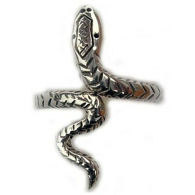 Sterling Silver Celtic Snake Adjustable Ring Band Comfort Fit R308