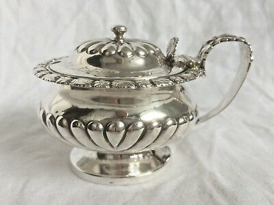 Regency Silver Ornate Mustard Pot, London 1822, George Burrows & Richard Pearce