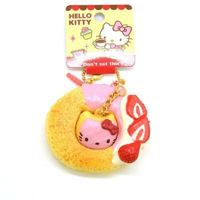 Original Licensed Hello Kitty Donuts Squishy Collectibles Soft Strawberry Bread
